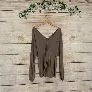 Urban Outfitters Ecote Long Sleeve Blouse